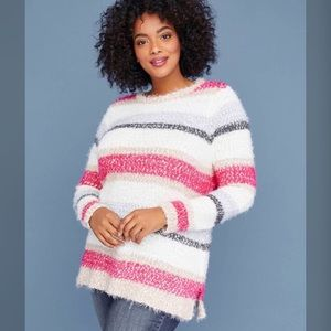 LANE BRYANT Cozy Striped Sweater